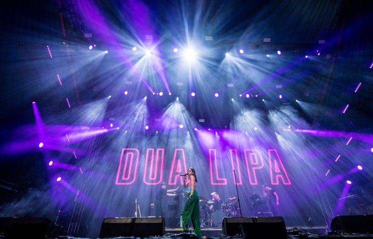 Dua Lipa performing on the John Peel Stage