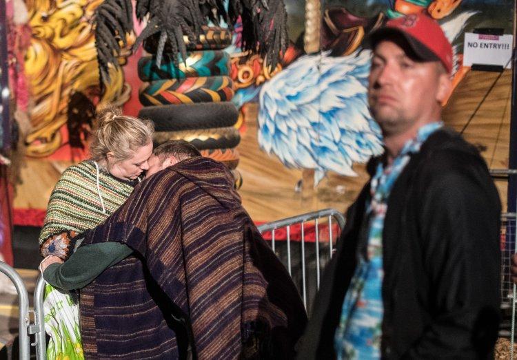 Festival goers enjoying the nightlife in the Shangri-la area of the festival