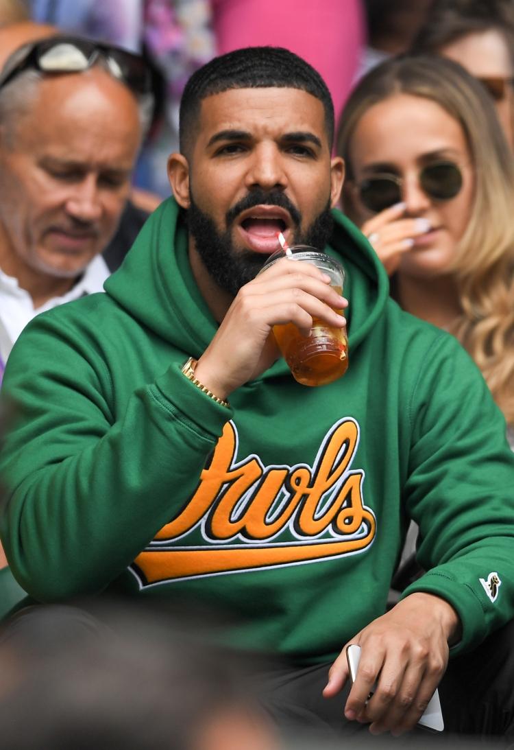 Drake on Centre Court