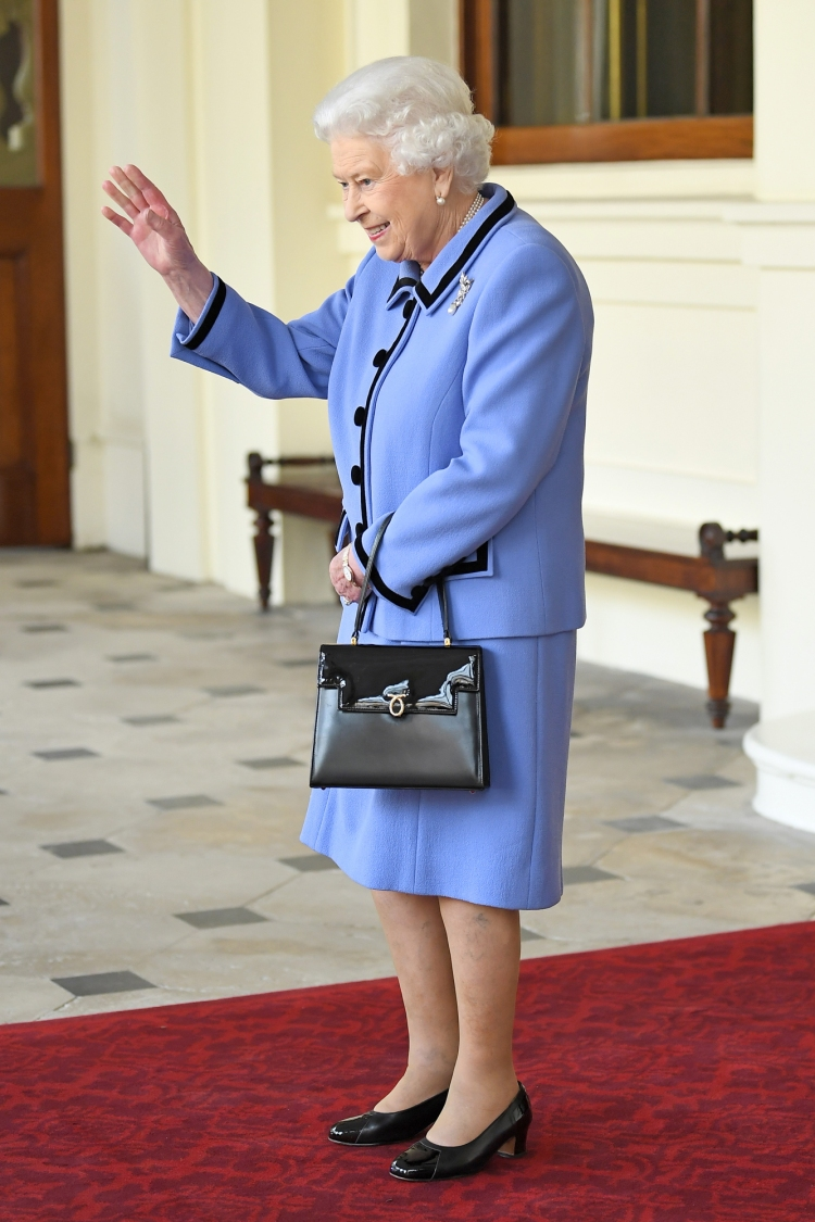 Queen Elizabeth II during a Formal Farewell at Buckingham Palace